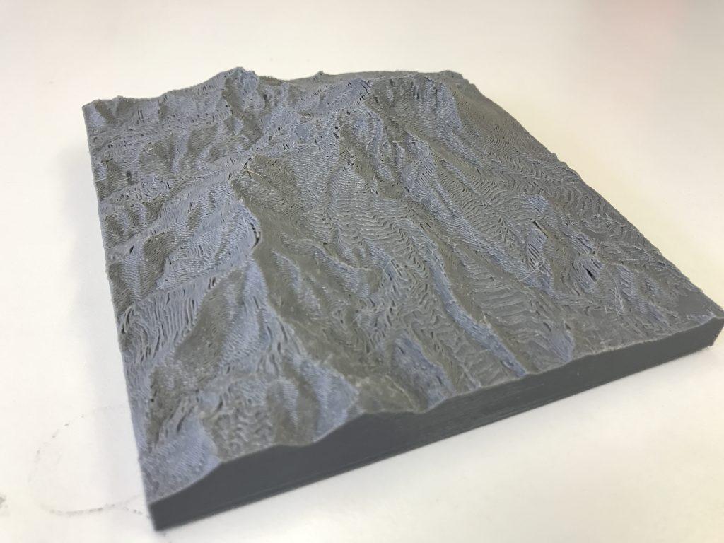 大山の3D模型