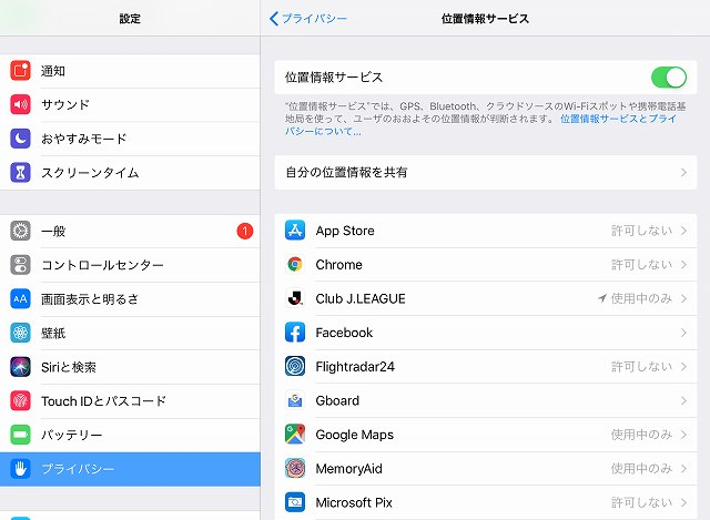 iPhone/iPadの位置情報と写真共有